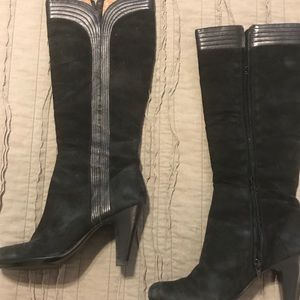 Black Sofft knee-high boots